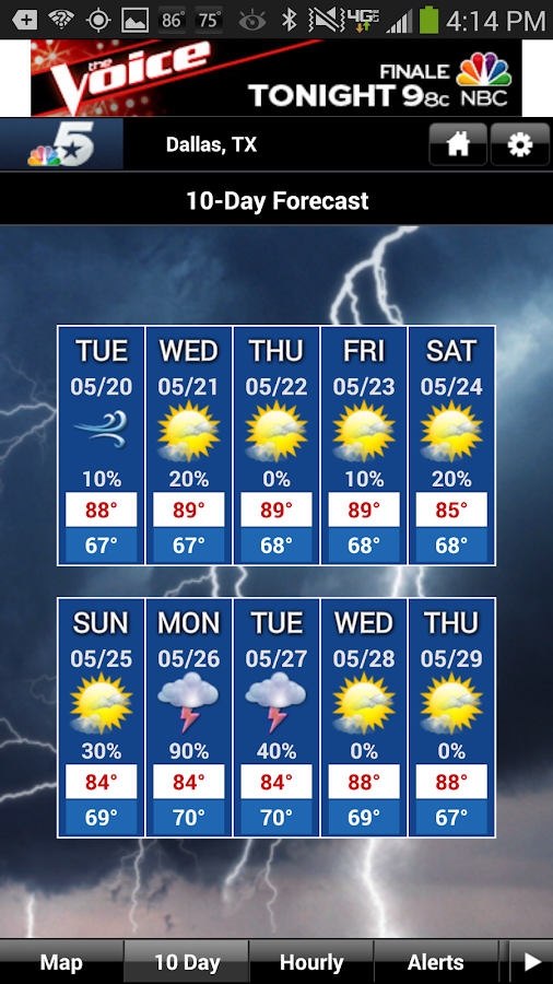 DFW Weather- screenshot