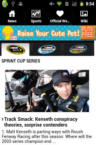 Nascar Fan App - screenshot