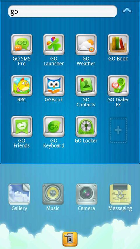 Sun And Sky GO launcher theme - screenshot