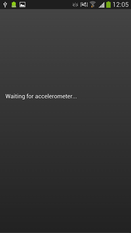 Accelerometer Test- screenshot