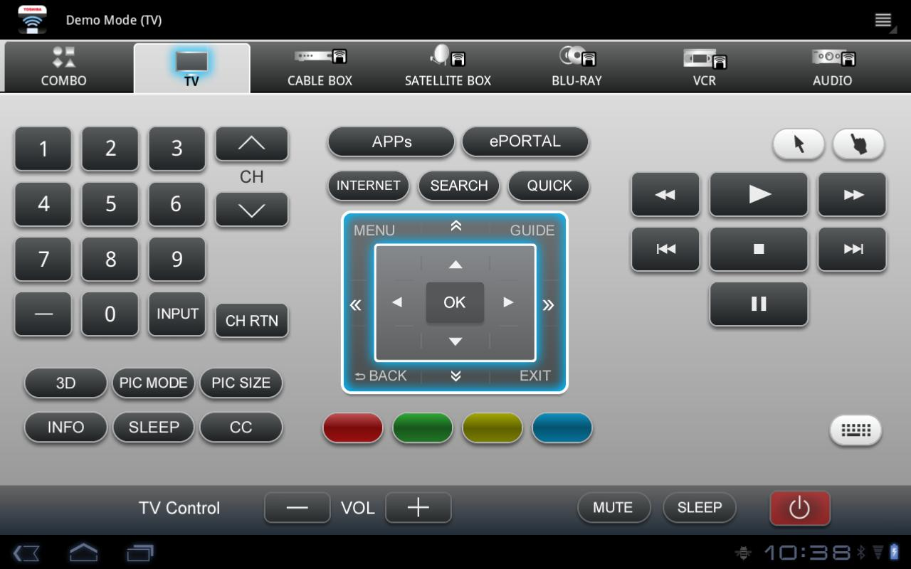 Toshiba A/V Remote - screenshot