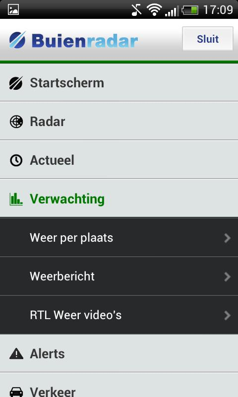 Buienradar.nl Phone - screenshot