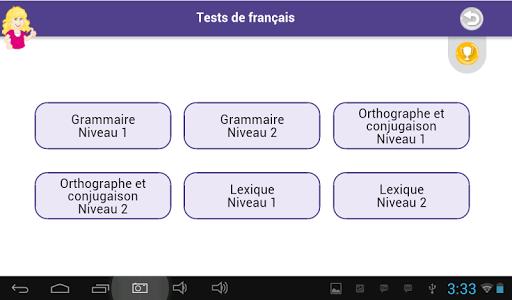 Tests de français