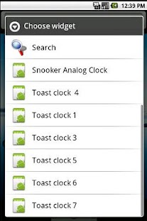 snooker clock widget - screenshot thumbnail