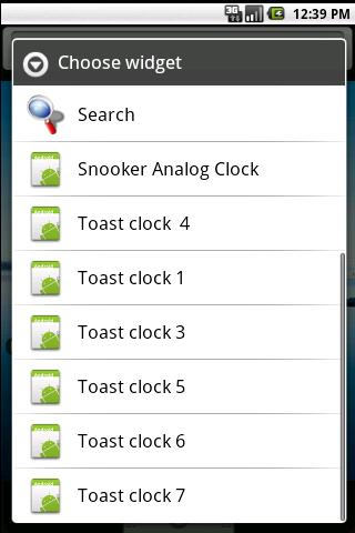snooker clock widget- screenshot