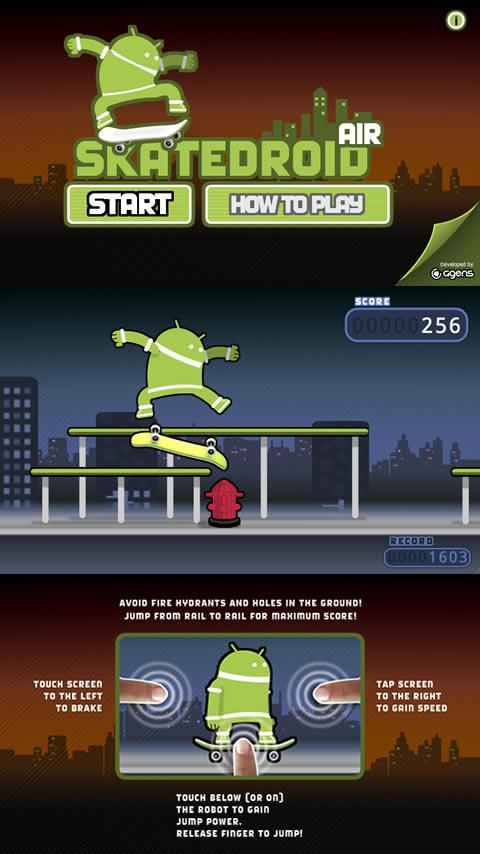 Skatedroid AIR- screenshot