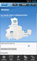 Screenshot of MDR Nachrichten