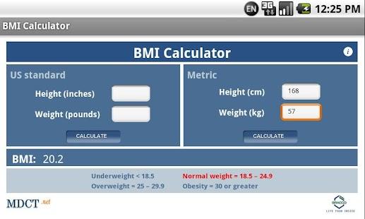 MDCT BMI Calculator- screenshot thumbnail