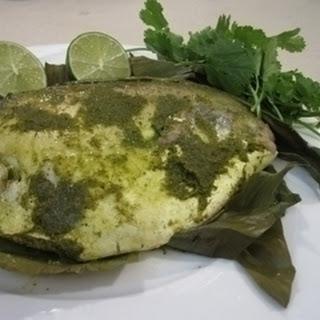 Parsee Fish In Banana Leaf.