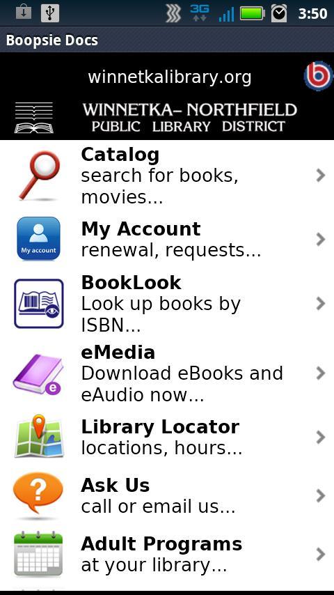 Winnetka-Northfield Library- screenshot