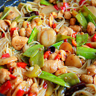 Kung Pao Chicken Noodle Stir Fry.