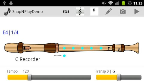 SnapNPlay music Demo Screenshot 3