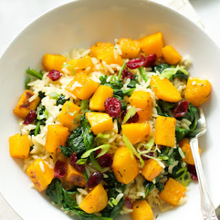 Rice with Roasted Butternut Squash and Dried Cranberries