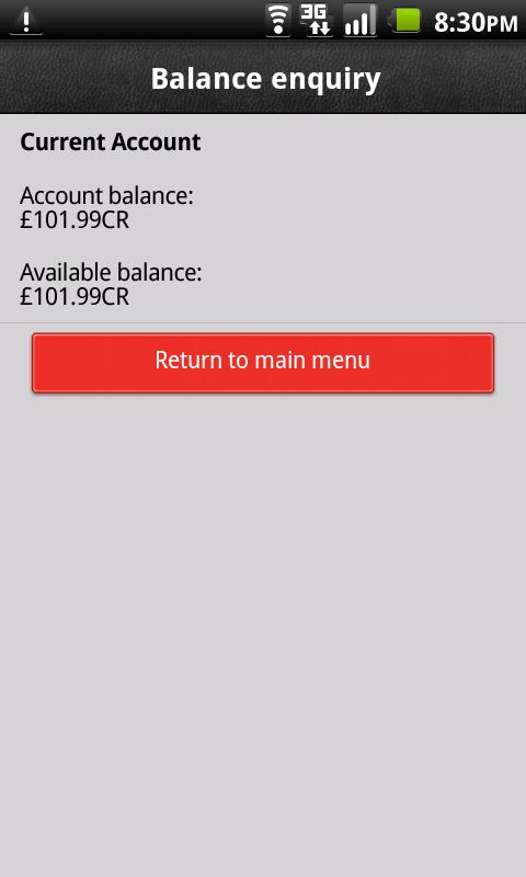 HSBC Fast Balance - screenshot
