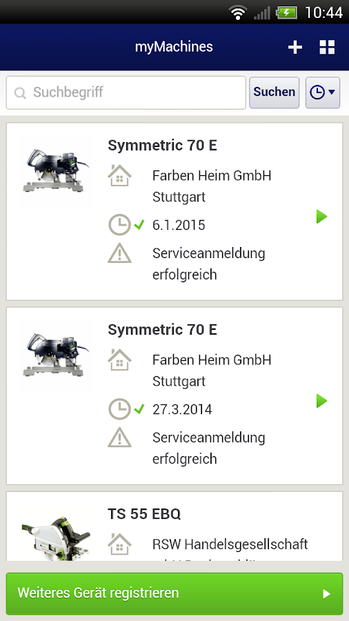 Festool – Screenshot