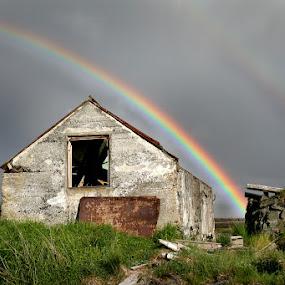 Í Straumsvík by Anna Guðmundsdóttir - Buildings & Architecture Decaying & Abandoned ( iceland, straumsvík, rainbow,  )
