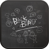 Blackboard go launcher theme