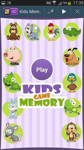 Cartoon Animals Memory Game