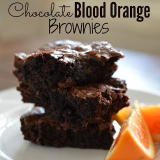 Chocolate Blood Orange Brownies