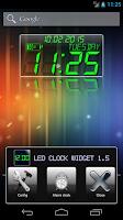 Screenshot of LED clock widget