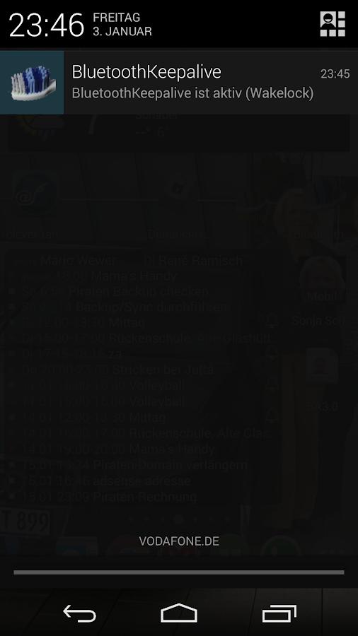 Bluetooth Keepalive - screenshot