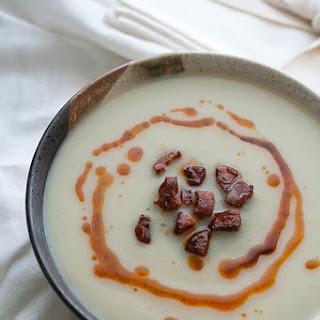Jerusalem Artichoke Soup with Crispy Chorizo