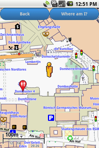 Cologne Amenities Map free