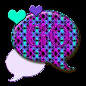 GO SMS THEME/NeonHearts4U