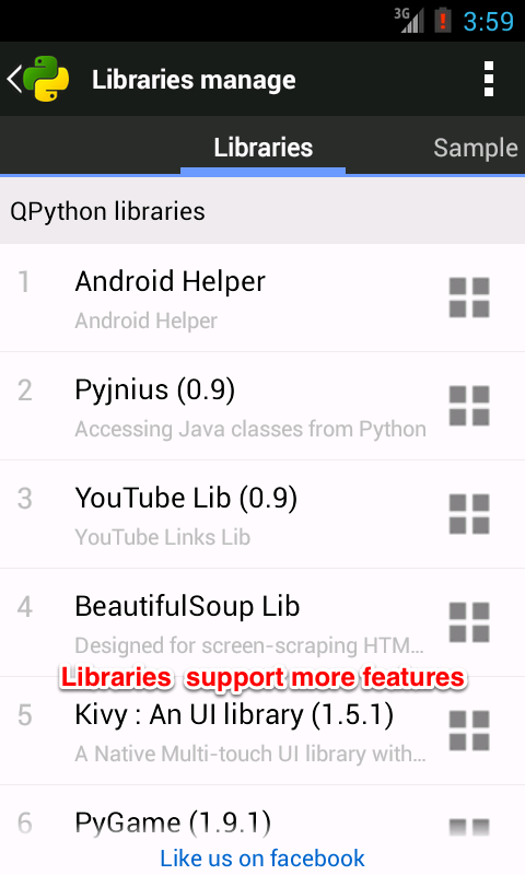 QPython - Python for Android - screenshot