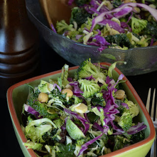Broccoli, Kale and Brussels Sprout Salad.