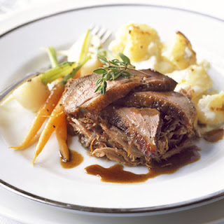 Roast Duck Two Ways With Spiced Clementine Sauce.