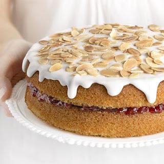 Cherry Bakewell cake.