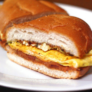 Breakfast Torta With Bacon, Eggs, and Chipotle Guacamole