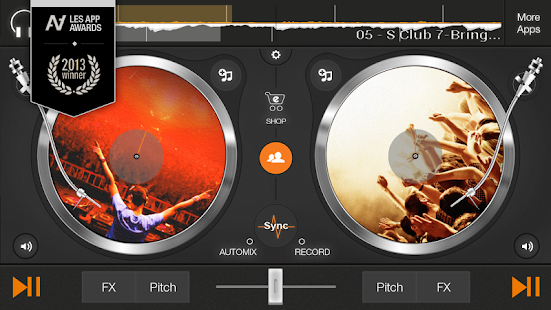 edjing DJ free mp3 music mixer - screenshot thumbnail