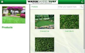 Screenshot of Water Savers Turf