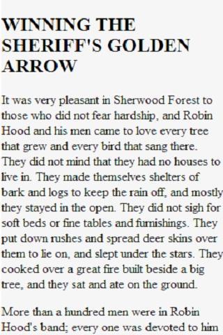 【免費書籍App】Stories of Robin Hood-APP點子