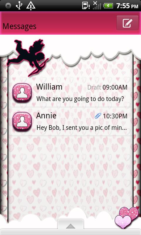 GO SMS THEME/ValentinesDay4U- screenshot
