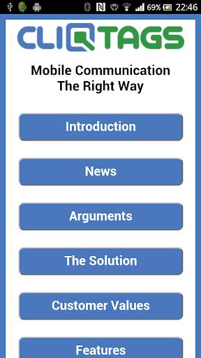 CliqTags Info English