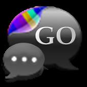 GO SMS Gunmetal Cobalt Theme