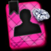 GO CONTACTS-DiamondPlaidPink