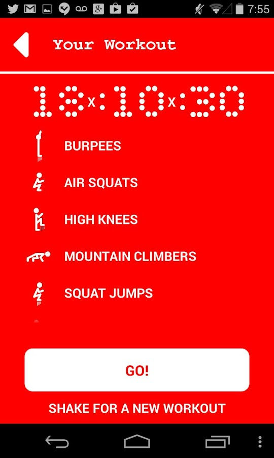 12 Minute Athlete HIIT Workout - screenshot