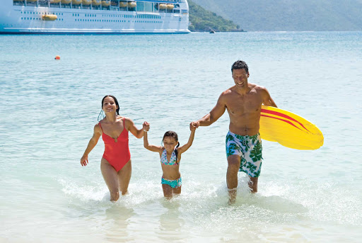 Voyager-of-the-Seas-beach-family - Cruise to warmer climes on Voyager of the Seas for a memories-filled family vacation.