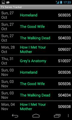 Tv Series Tracker - screenshot