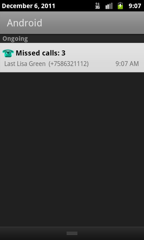 Missed Call - screenshot