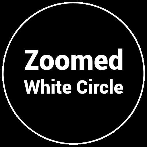 Zoomed White Circle LOGO-APP點子