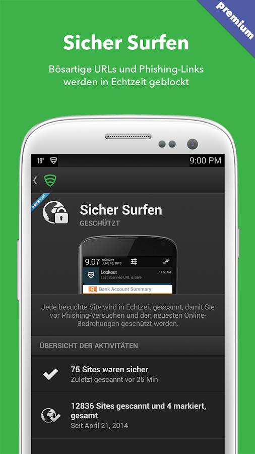 Antivirus & Sicherheit Lookout - screenshot