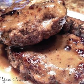 Hamburger Steaks with Brown Gravy.