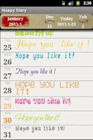 Screenshot of Happy Diary
