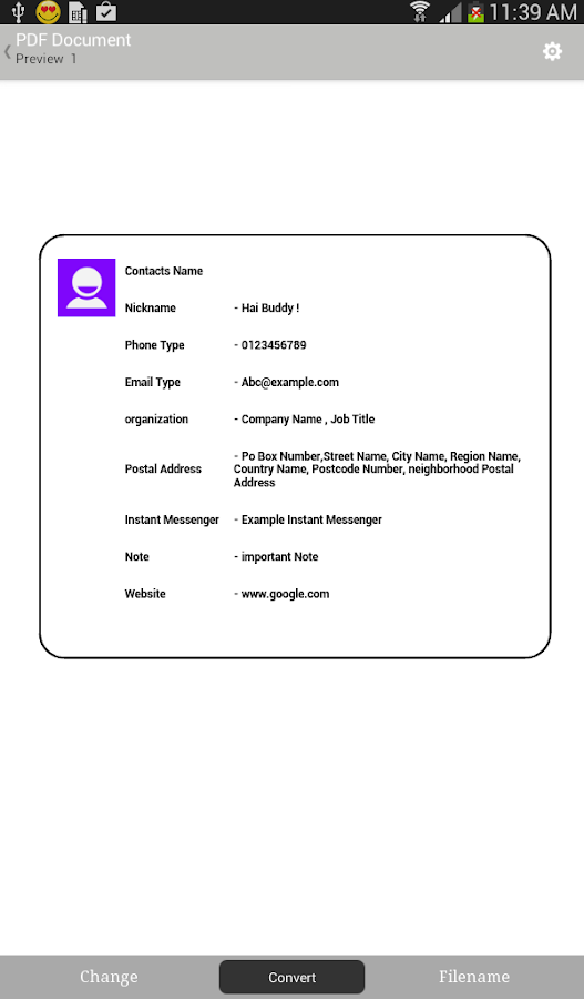 Contacts to ( Text,PDF,Email) - screenshot