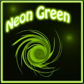 Neon Green Style Clock